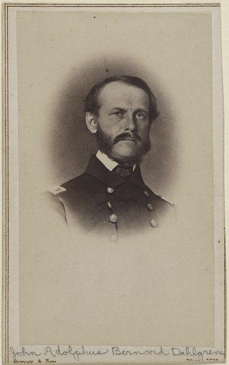 John Adolphus Bernard Dahlgren. Sitter: John Adolphus Bernard Dahlgren, 13 Nov 1809 – 12 Jul 1870. Date: 1880s. Record ID: npg_NPG.80.302.