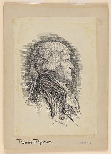 Thomas Jefferson. Sitter: Thomas Jefferson, 13 Apr 1743 – 4 Jul 1826. Date: 1900s. Record ID: npg_S_NPG.72.34.