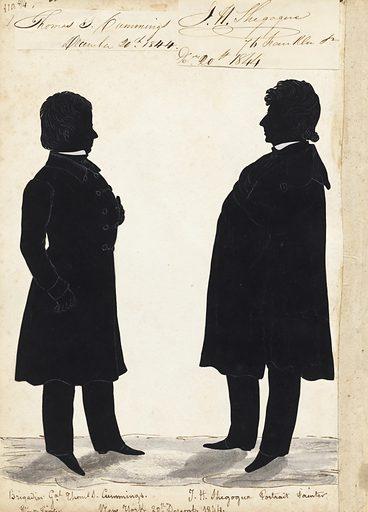Thomas Cummings and James Shegogue. Sitters: Thomas Seir Cummings, 26 Aug 1804 – 25 Sep 1894; James Hamilton Shegogue, 1806 – 1872. Date: 1840s. Record ID: npg_NPG.91.126.125.B.