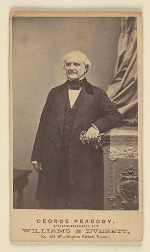 George Peabody. Sitter: George Peabody, 18 Feb 1795 – 4 Nov 1869. Date: 1850s. Record ID: npg_NPG.79.54.