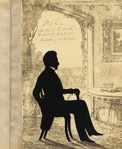 William McKendree Gwin. Sitter: William McKendree Gwin, 1805 – 1885. Date: 1840s. Record ID: npg_S_NPG.91.126.67.A.