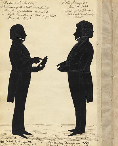 Robert Huston and Robley Dunglison. Sitters: Robert Mendenhall Huston, 1795 – 1864; Robley Dunglison, 4 Jan 1798 – 1 Apr 1869. Date: 1840s. Record ID: npg_NPG.91.126.77.B.