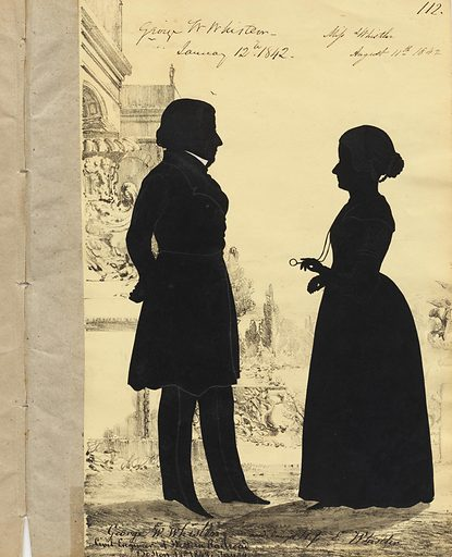 George Washington Whistler and Lady Whistler Haden. Sitters: George Washington Whistler, 19 May 1800 – 7 Apr 1849; Lady Deborah Delano Whistler Haden, c. 1825 – 1908. Date: 1840s. Record ID: npg_NPG.91.126.117.A.