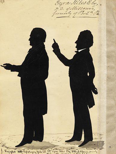 Jonathan Knight and Ezra Ely. Sitters: Jonathan Knight, 1789 – 1864; Ezra Stiles Ely, 1786 – 1861. Date: 1840s. Record ID: npg_S_NPG.91.126.76.B.