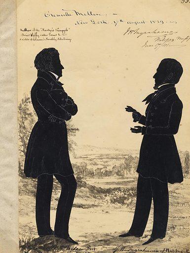 Grenville Mellen and Joseph Ingraham. Sitters: Grenville Mellen, 1799 – 1841; Joseph Holt Ingraham, 26 Jan 1809 – 18 Dec 1860. Date: 1830s. Record ID: npg_NPG.91.126.39.A.