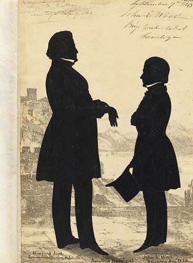 Winfield Scott and John Ellis Wool. Sitters: Winfield Scott, 13 Jun 1786 – 29 May 1866; John Ellis Wool, 29 Feb 1784 – 10 Nov 1869. Date: 1880s. Record ID: npg_NPG.91.126.127.A.