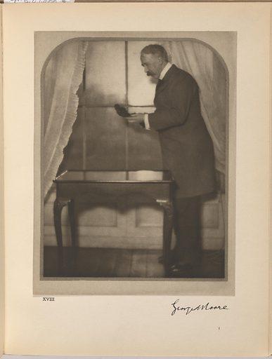 George Moore. Sitter: George Moore, 24 Feb 1852 – 21 Jan 1933. Date: 1900s. Record ID: npg_S_NPG.87.288.R.