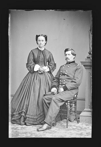 George Brinton McClellan and wife [Ellen Marcy]. Sitters: George Brinton McClellan, 3 Dec 1826 – 29 Oct 1885; Mary Ellen Marcy McClellan, 06 May 1835 – 13 Feb 1915. Date: 1860s. Record ID: npg_NPG.81.M152.