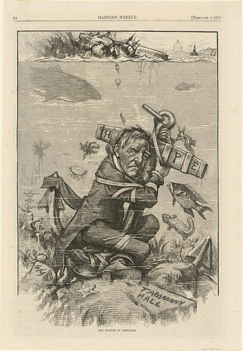 The Statute of Limitation. Sitter: Samuel Jones Tilden, 9 Feb 1814 – 4 Aug 1886. Date: 1870s. Record ID: npg_S_NPG.76.20.