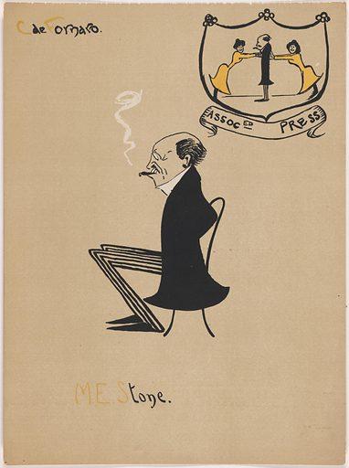 Melville E. Stone. Sitter: Melville Elijah Stone, 22 Aug 1848 – 15 Feb 1929. Date: 1900s. Record ID: npg_S_NPG.96.95.12.