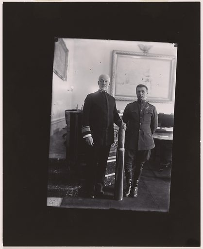 William Mitchell and William Sims. Sitters: William Sowden Sims, 15 Oct 1858 – 28 Sep 1936; William Mitchell, 29 Dec 1879 – 19 Feb 1936. Date: 1920s. Record ID: npg_NPG.81.11.