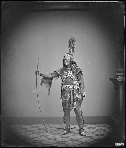 Edwin Forrest as Metamora. Sitter: Edwin Forrest, 9 Mar 1806 – 12 Dec 1872. Date: 1860s. Record ID: npg_NPG.88.100.