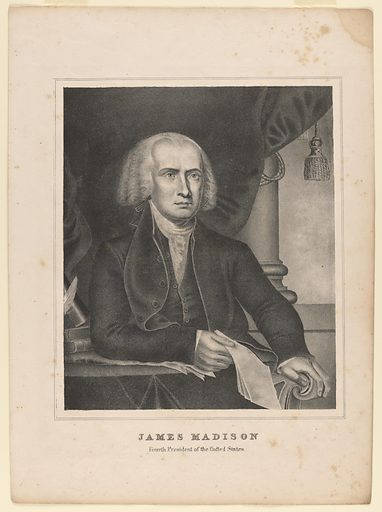 Portfolio of Eight Presidents. Sitter: James Madison, 16 Mar 1751 – 28 Jun 1836. Date: 1840s. Record ID: npg_S_NPG.84.221.4.