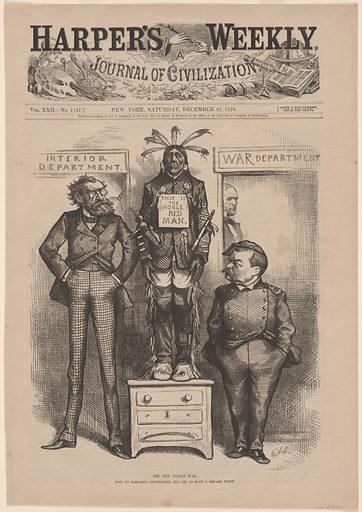 New Indian War. Sitters: Carl Schurz, 2 Mar 1829 – 14 May 1906; Philip Henry Sheridan, 6 Mar 1831 – 5 Aug 1888. Date: 1880s. Record ID: npg_S_NPG.78.185.