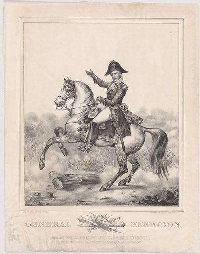 General Harrison, the Washington of the West. Sitter: William Henry Harrison, 9 Feb 1773 – 4 Apr 1841. Date: 1840s. Record ID: npg_NPG.99.137.