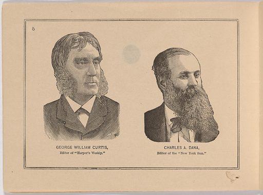 Album of Portraits of Celebrities. Sitter: Charles Anderson Dana, 8 Aug 1819 – 17 Oct 1897. Date: 1880s. Record ID: npg_S_NPG.90.50.J.