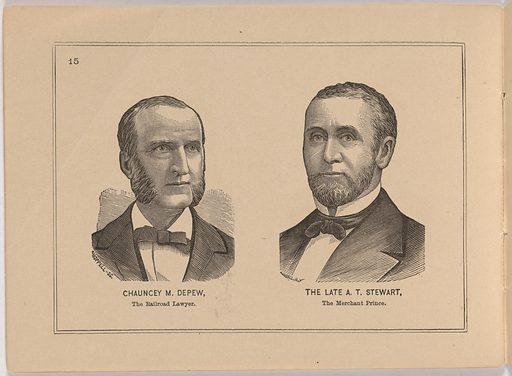 Album of Portraits of Celebrities. Sitter: Chauncey Mitchell Depew, 23 Apr 1834 – 5 Apr 1928. Date: 1880s. Record ID: npg_S_NPG.90.50.CC.