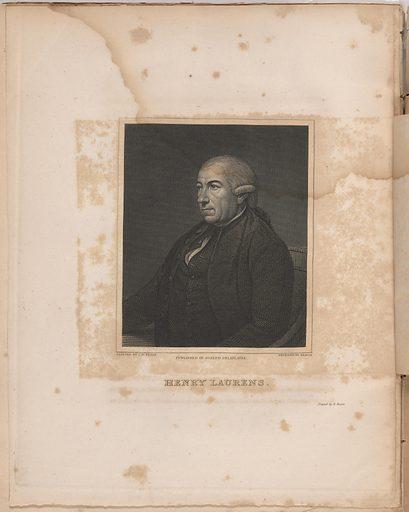 Henry Laurens. Sitter: Henry Laurens, 6 Mar 1724 – 8 Dec 1792. Date: 1810s. Record ID: npg_S_NPG.77.136.3.c.