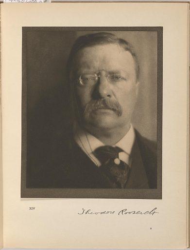 Theodore Roosevelt. Sitter: Theodore Roosevelt, 27 Oct 1858 – 6 Jan 1919. Date: 1900s. Record ID: npg_NPG.87.288.N.