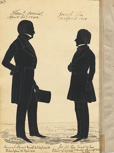 Samuel Norris and Joseph Mickle Fox. Sitters: Samuel Norris, 1796 – 1866; Joseph Mickle Fox, 1779 – 1845. Date: 1840s. Record ID: npg_S_NPG.91.126.60.B.