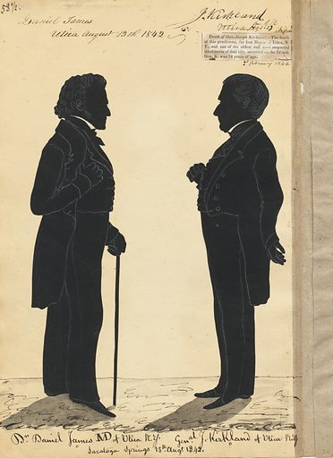 Daniel James and Joseph Kirkland. Sitters: Daniel James; Joseph Kirkland, 1770 – 1844. Date: 1840s. Record ID: npg_S_NPG.91.126.62.B.