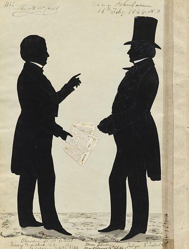 Theodore McCaleb and Isaac Johnson. Sitters: Theodore Howard McCaleb, 1810 – 1864; Isaac Johnson, ? – 1853. Date: 1840s. Record ID: npg_S_NPG.91.126.120.B.