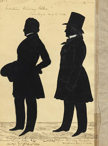 Cornelius Felton and Alfred Hennen. Sitters: Cornelius Conway Felton, 6 Nov 1807 – 26 Feb 1862; Alfred Hennen, 1786 – 1870. Date: 1880s. Record ID: npg_S_NPG.91.126.118.B.