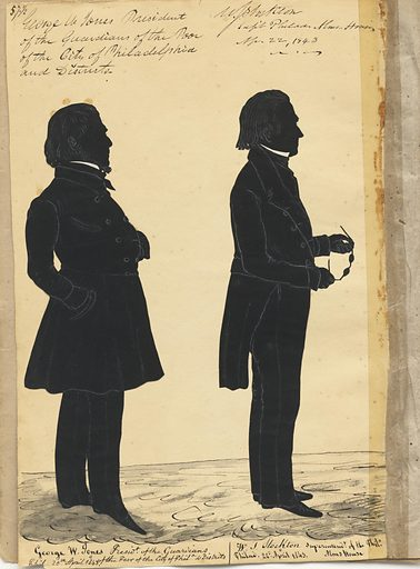 George W. Jones and William Stockton. Sitters: George W. Jones; William Smith Stockton, 1785 – 1860. Date: 1840s. Record ID: npg_S_NPG.91.126.61.B.