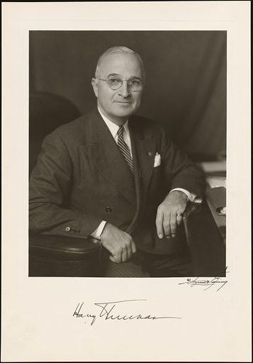 Harry S Truman. Sitter: Harry S Truman, 8 May 1884 – 26 Dec 1972. Date: 1940s. Record ID: npg_NPG.84.254.