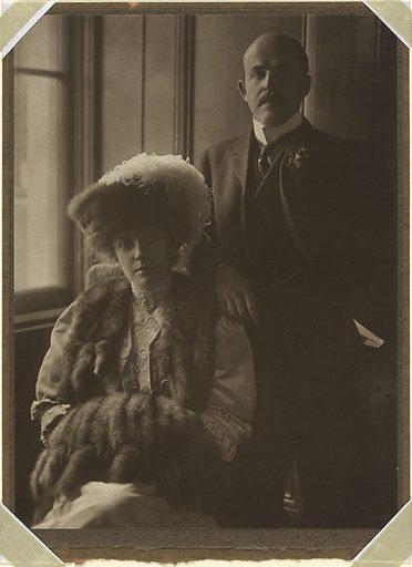 Nicholas and Alice Roosevelt Longworth. Sitters: Alice Lee Roosevelt Longworth, 12 Feb 1884 – 20 Feb 1980; Nicholas Longworth, 5 Nov 1869 – 9 Apr 1931. Date: 1900s. Record ID: npg_NPG.81.128.