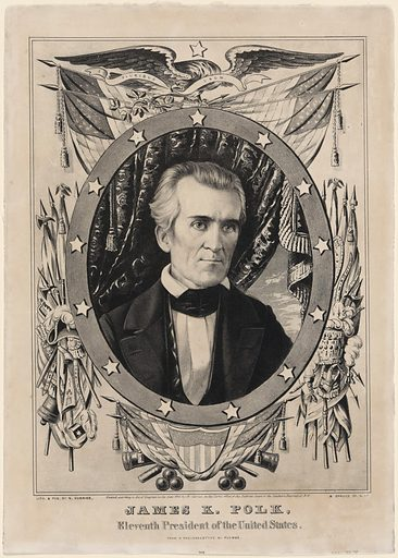James K. Polk. Sitter: James Knox Polk, 2 Nov 1795 – 15 Jun 1849. Date: 1840s. Record ID: npg_NPG.78.80.