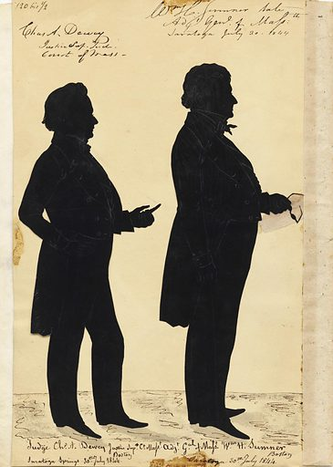Charles Dewey and William Hyslop Sumner. Sitters: Charles Dewey, 1784 – 1862; William Hyslop Sumner, 1780 – 1861. Date: 1840s. Record ID: npg_S_NPG.91.126.127.B.