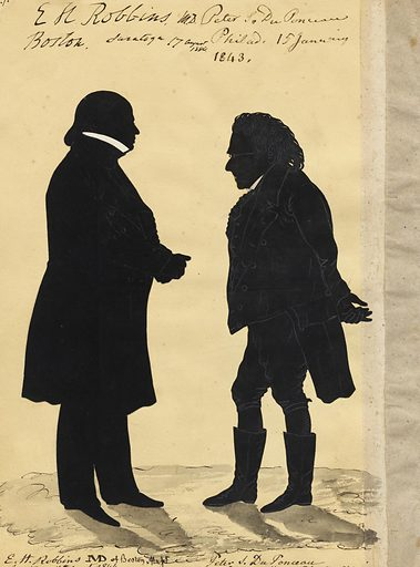 Edward Robbins and Peter Du Ponceau. Sitters: Edward Hutchinson Robbins, 1792 – 1850; Peter Stephen Du Ponceau, 1760 – 1844. Date: 1840s. Record ID: npg_S_NPG.91.126.91.B.