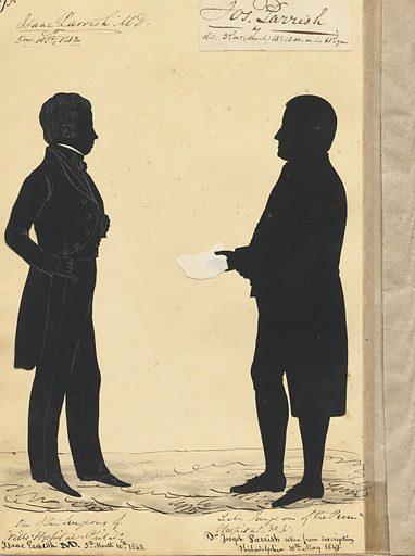 Isaac and Joseph Parish. Sitters: Isaac Parrish, 1811 – 1852; Joseph Parrish, 1779 – 1840. Date: 1840s. Record ID: npg_S_NPG.91.126.31.B.