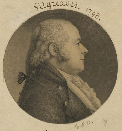 Samuel Sitgreaves. Sitter: Samuel Sitgreaves, 16 Mar 1764 – 4 Apr 1827. Date: 1790s. Record ID: npg_S_NPG.74.39.10.35.