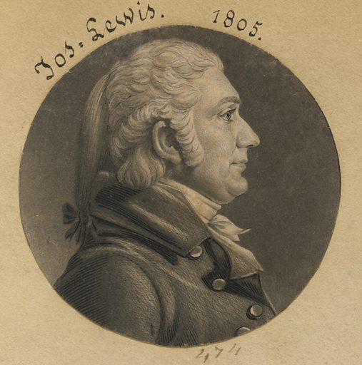 Joseph Lewis, Jr. Sitter: Joseph Lewis Jr., 1772 – 30 Mar 1834. Date: 1800s. Record ID: npg_S_NPG.74.39.11.1.