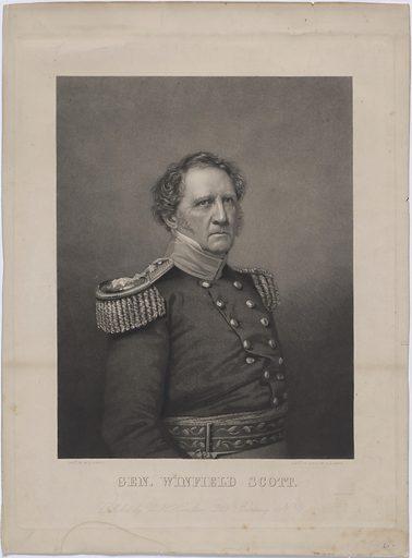 General Winfield Scott. Sitter: Winfield Scott, 13 Jun 1786 – 29 May 1866. Date: 1830s. Record ID: npg_NPG.77.102.