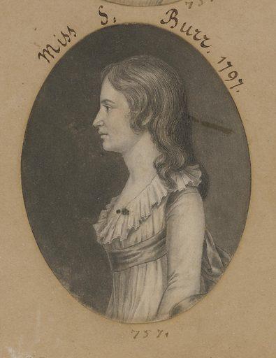 Theodosia Bartow Burr Alston. Sitter: Theodosia Bartow Burr Alston, 21 Jun 1783 – Jan 1813. Date: 1790s. Record ID: npg_NPG.74.39.16.44.