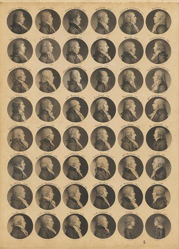 Saint-Mémin folio 3. Sitter: (Multiple Sitters). Date: 1780s. Record ID: npg_NPG.74.39.3.