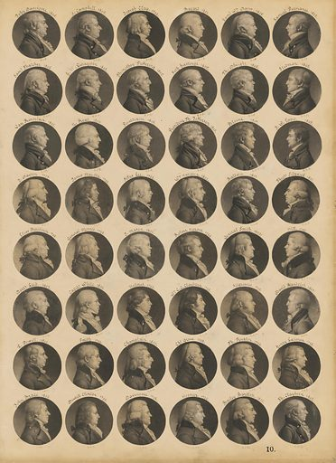 Saint-Mémin folio 10. Sitter: (Multiple Sitters). Date: 1780s. Record ID: npg_NPG.74.39.10.