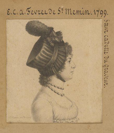 Étiennette-Charlotte-Adélaïde Févret de Saint-Memin. Sitter: Étiennette-Charlotte-Adélaïde Févret de Saint-Memin, 1779 – 1857. Date: 1790s. Record ID: npg_S_NPG.74.39.1.3.