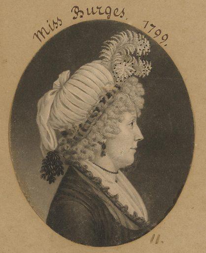Miss Burges. Sitter: Miss Burges. Date: 1790s. Record ID: npg_S_NPG.74.39.1.11.