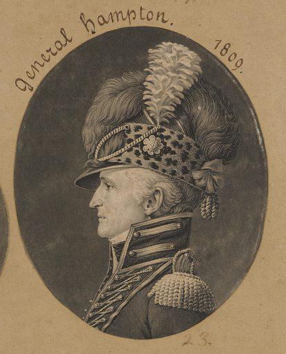 Wade Hampton. Sitter: Wade Hampton, c. 1751 – 4 Feb 1835. Date: 1800s. Record ID: npg_S_NPG.74.39.1.23.