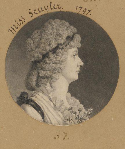 Cornelia Schuyler Morton. Sitter: Cornelia Schuyler Morton, 1776 – 1808. Date: 1790s. Record ID: npg_S_NPG.74.39.1.37.