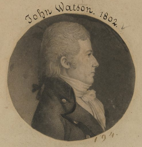John Watson. Sitter: John Watson, born late 18th Century. Date: 1800s. Record ID: npg_S_NPG.74.39.5.9.