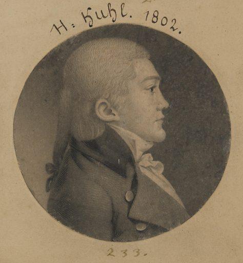Henry Kuhl. Sitter: Henry Kuhl, 1764 – 1856. Date: 1800s. Record ID: npg_S_NPG.74.39.5.48.