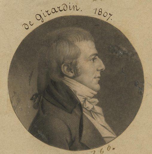 Louis Hue Girardin. Sitter: Louis Hue Girardin, 1771 – 1825. Date: 1800s. Record ID: npg_S_NPG.74.39.6.27.