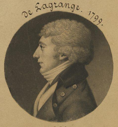 Joseph E. G. M. de la Grange. Sitter: Joseph E. G. M. de la Grange, born mid-late 18th Century. Date: 1790s. Record ID: npg_S_NPG.74.39.6.48.