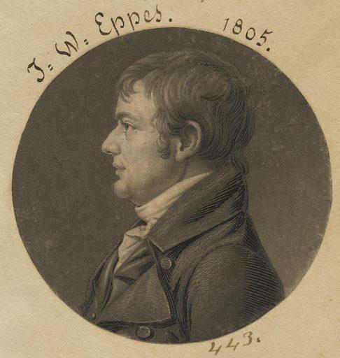 John Wayles Eppes. Sitter: John Wayles Eppes, 1773 – 1823. Date: 1800s. Record ID: npg_S_NPG.74.39.10.18.