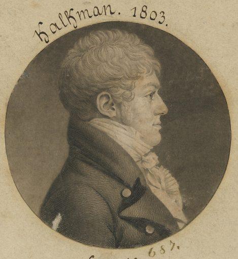 Charles F. Kalkman. Sitter: Charles F. Kalkman, 1782 – c. 1846. Date: 1800s. Record ID: npg_S_NPG.74.39.15.22.
